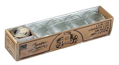 8tlg. Quattro Stagioni Geschenkset - 4x 0,25L Glas + 4x Deckel