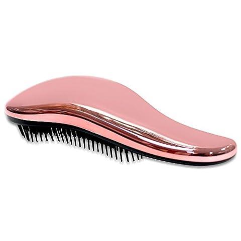 Brosse- une brosse à cheveux Démêlante , le meilleur salon professionnel de qualité, Wet & Dry Brush pour Tangle-Free, pas de douleur - super pour épais, ondulés, bouclés, ou les cheveux fins sur les femmes, filles et enfants, doivent avoir un pinceau en rouge le démêlant (L