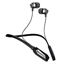 Amkette Trubeats Urban Bluetooth Wireless Headphone with Mic, 18hrs Marathon battery life, Feather Light Weight, Rich Bass Drivers and Magnetic Lock comes with Hassle Free 1 year warranty (Black)