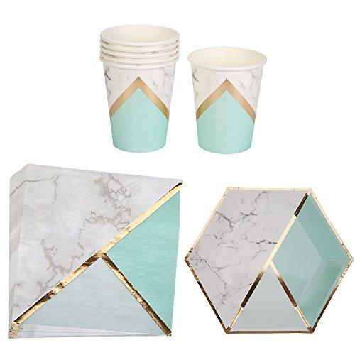 ations-Set Marble Mint-Grün Marmor-Optik Mint-Grün & Gold ()