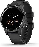 Garmin Vívoactive 4S Waterdichte GPS-Fitnesssmartwatch, met Trainingsplannen en Geanimeerde Oefeningen, voor Smalle...