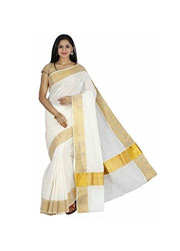 RSV fabrics kerala kasavu cotton sarees