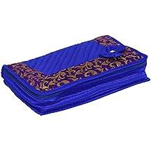Kuber Industries Designer Cotton Jewellery Kit, Blue
