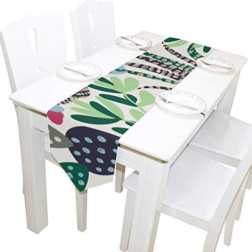 d Kakteen in skandinavischen stilvollen Kommode Schal Tuch Abdeckung Tischläufer Tischdecke Tischset Küche Esszimmer Wohnzimmer Home Hochzeit Bankett Dekor Indoor 13x90 Zoll ()