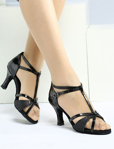La mode moderne Sandales Chaussures de danse pour femmes personnalisables/Satin Satin Paillette Paillette/latin/Heels Sandals Sneakers/HeelPractice cubain/débutant / US6/EU36/UK4/CN36