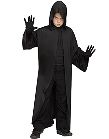 Costumes Jedi Halloween - Fun World Black Hooded Robe Childs Jedi