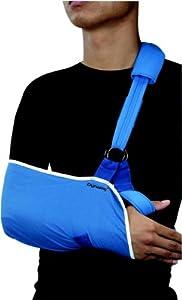 Arm Sling Cradle Adjustable Nylon Velour Padded Broken Strain Sprained Shoulder