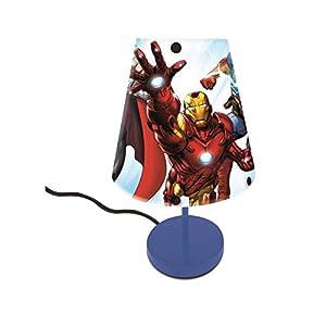 LEXIBOOK-Los LT01 Vengadores-La lámparita de Noche de los súper héroes de Marvel, luz Decorativa con diseño rompedor LT010AV, Color