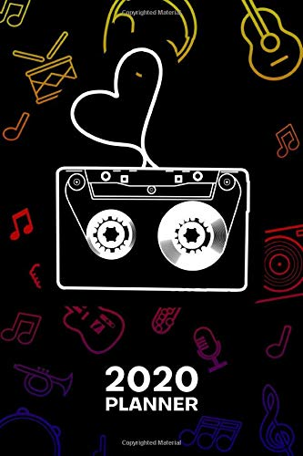 2020 PLANNER Weekly and Monthly: Music Lover Organizer - Jan-Dec 160 Pages A5 6x9 - Rapper Diary Sample Mixtape Journal Notebook 90s Music Calendar - Hiphop Music Gift for Men & Women