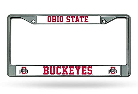 Ohio State Buckeyes Chrome Rahmen, damen Kinder unisex Herren, Ohio State Buckeyes, 12 Inchesx6 (State University Chrome Frame)