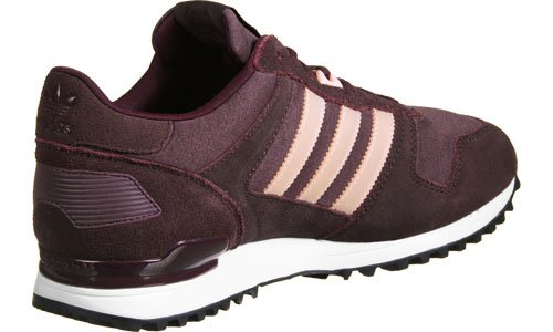 adidas Zx 700, Sneakers Basses Femme Rouge (Maroon/haze Coral/night Red)
