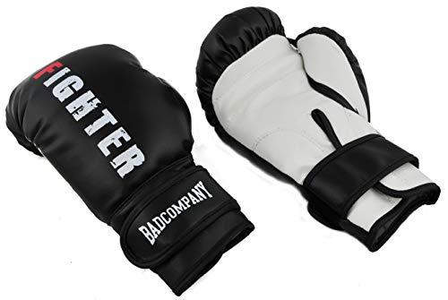 Bad Company Boxhandschuhe Fighter für Kinder- und Jugendliche I 8 oz mit Schaumstoff-Polsterung I Einheitsgröße