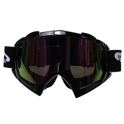 Motorrad Crossbrille Motocrossbrille Schutzbrille Brille Dirt Bike Radfahren Kopfbedeckung Eyewear - schwarz