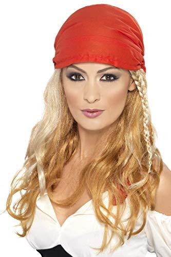 Smiffys Damen Piraten Prinzessin Perücke mit Kopftuch, One Size, Blond, ()