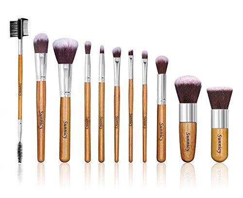 11 Piece professionnel Maquillage Brush Set cosmétique brosse produits de beauté poudre outil avec