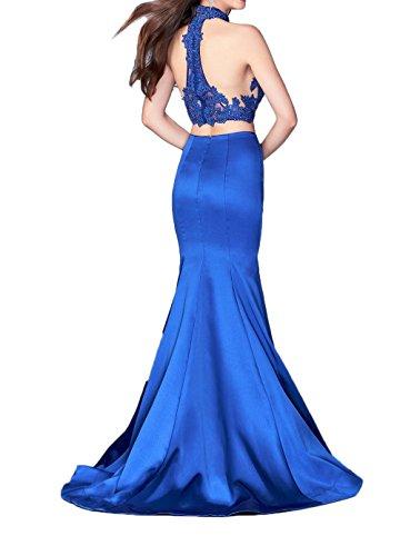 La_Marie Braut Royal Blau Spitze Zwei-teilig Abendkleider Ballkleider Partykleider Meerjungfrau Lang Royal Blau