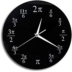 3.14 Pi Reloj de Pared Matemática Pi Aula Decoración de Pared Negro Acrílico Pop Quiz Reloj de Pared Decoración para el hogar Geek Nerd Math Chic Regalo