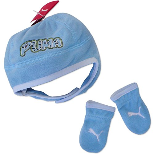 Ensemble bonnet + moufle Bébé Polaire PUMA MINI CATS Fleece set Bleu