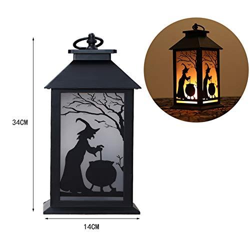Halloween LED Hängende Laterne im Freien, Candle-Effekt-Licht mit Stake für Garten, Terrasse, Rasen, Deck, Regenschirm, Zelt, Baum, Garten, Auffahrt-Warm White,a -