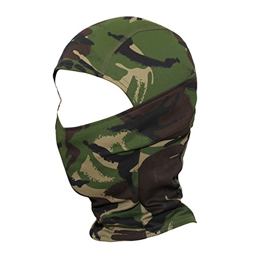 WTACTFUL Camouflage Cover Balaclava Hood Ninja Outdoor Cycling Motorcycle Hiking Climbing Hunting Helmet liner Gear Full Face Mask for Summer Sports SP-06