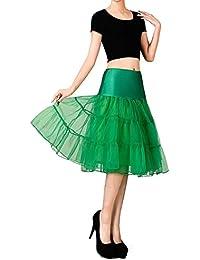 VERNASSA 50s Petticoats Underskirt, Retro Vintage Swing 1950's Rockabilly Tutu Skirt,Knee Length Crinoline Half Slips for Party Evening Dress