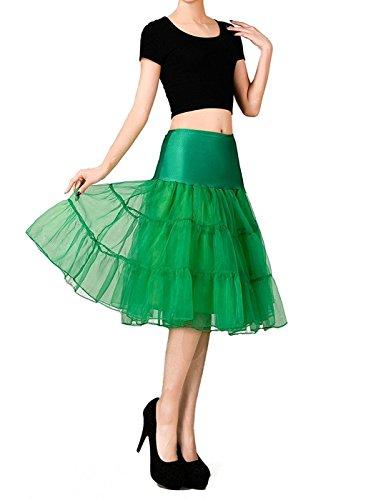 VERNASSA 50s Rockabilly Reifrock Unterrock Petticoat Underskirt Crinoline,Knee Length Crinoline Half Slips für Party Abend Kleid