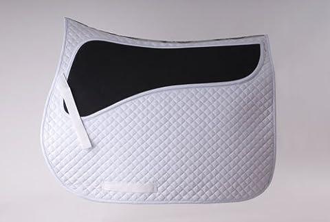Rhinegold Pressure Pad Horse Saddle Cloth Full Size White or Black (White)