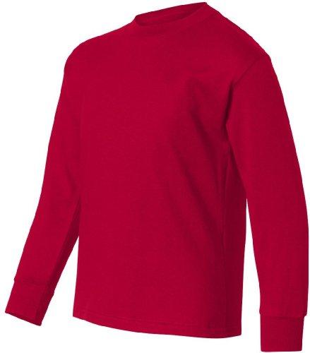 Hanes -  Maglia a manica lunga  - Asimmetrico - ragazzo Rosso