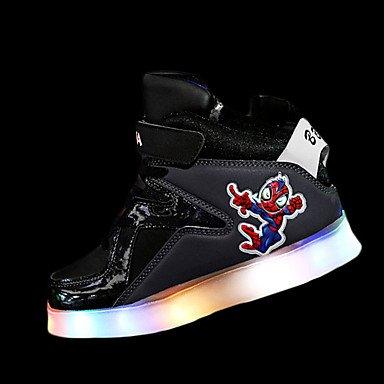 Aemember scarpe da atletica comfort in inverno Athletic comfort lace-up LED Flat Heel White grigio rubino blu royal piatto US5 / EU37 / UK4 Big Kids
