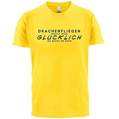 Drachenfliegen macht mich glücklich - Herren T-Shirt - 13 Farben Gelb