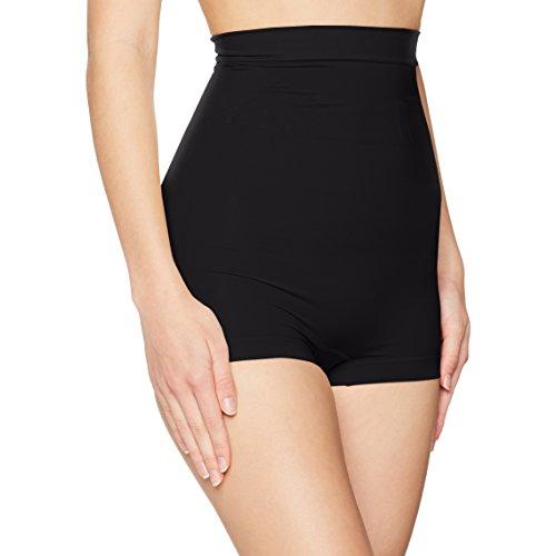 FM London Damen Nahtloser Miederrock High Waist Shapewear Shorts, schwarz, 38/40 (Herstellergröße: S)