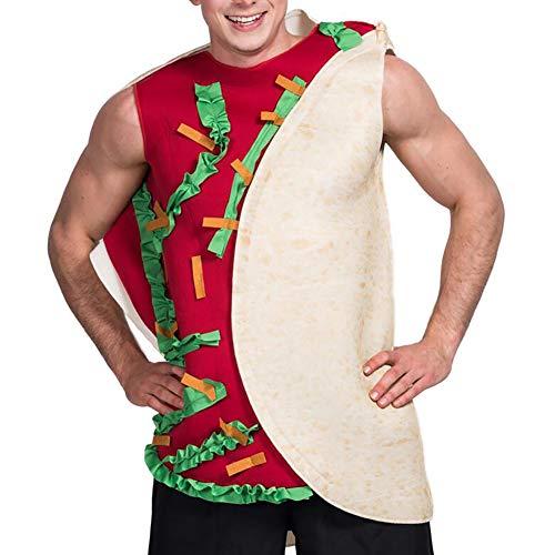 SHANGLY Herren Lebensmittel Kostüm Essen Cosplay Halloween Kostüm Erwachsene Karneval Party Outfits Kleidung
