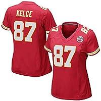 Rugby Jersey Jefes de Kansas City de la Mujer # 87 Kelce Tech Transpirable Jersey Vestido la Camiseta de Rugby Traje (Color : Red, Size : L)