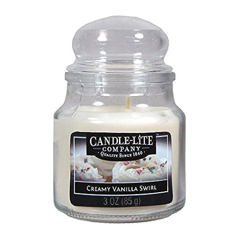 Candle-Lite Company Small Jar - Creamy Vanilla Swirl
