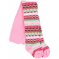 Bright Bots 0/6m Baby Girls Tights Cosy Patterned - Pink