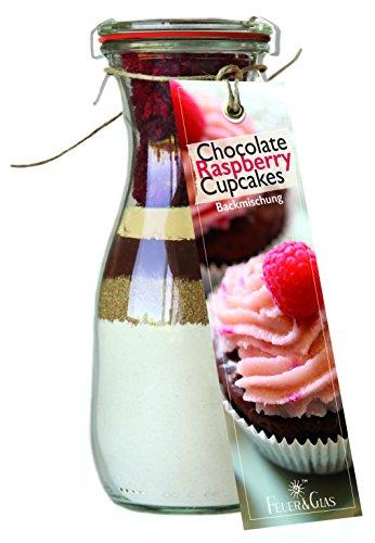 Backmischung im Glas für Chocolate Raspberry Cupcakes - Raffinierte Geschenk-Idee für Backfreunde - Gourmet Backzutaten im Weckglas für Schokoladen-Himbeer-Cupcakes - Mini-Kuchen Fertig-Mischung als Party-Snack oder Dessert - von Feuer & Glas (Halloween Mini-cupcake-ideen Für)