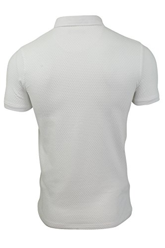 Herren Polo Hemd von Brave Soul kurzärmlig Weiß
