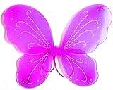 Ali di Farfalla - Accessorio per Costume - Travestimento - Carnevale - Halloween - Teatro - Fata - Fuxia - Bambina - 3-7 anni - Idea regalo per natale e compleanno