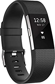 Fitbit Charge 2 Heart Rate & Fitness Wristband, Black, L