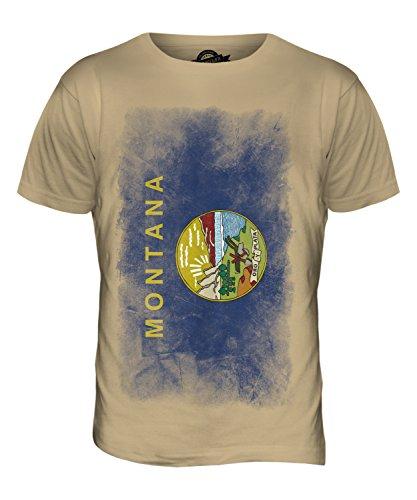 CandyMix Bundesstaat Montana Verblichen Flagge Herren T Shirt Sand