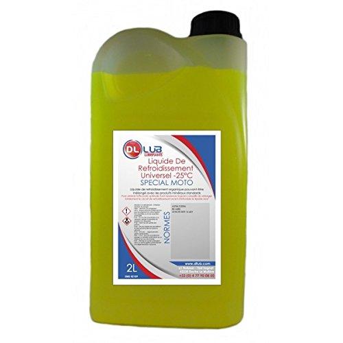 DLLUB - Liquide de refroidissement spécial moto -25°C - 2 litres