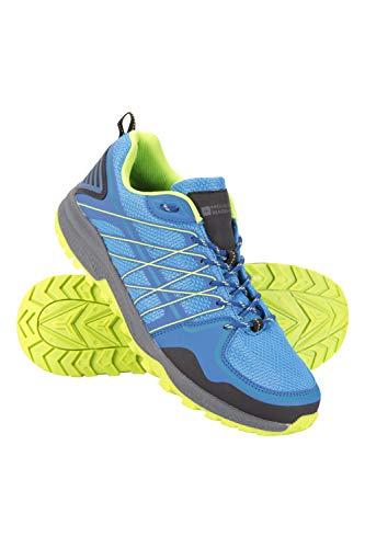 Mountain Warehouse Track Herren-Sportschuhe - leichte, atmungsaktive Turnschuhe, Kunststoff-Netzoberstoff, Eva, Meshfutter - für Sport, Fitnessstudio, Wandern Blau 45