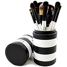 Morphe 12 Piece Black and White Travel Brush Set - Set 706 by Morphe