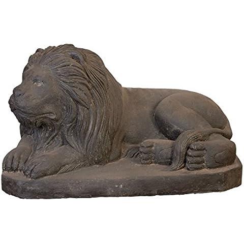 Gran Piedra Figura León de piedra/Liegender piedra León Izquierda 80cm, escultura para casa y jardín