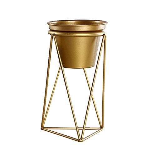 Bulary oro vaso di metallo basamento del ferro libera installazione da appendere fiore supporto porta cubo mensola ferro metallo geometrica a forma di decorazione della tavola fiore fioriera, l