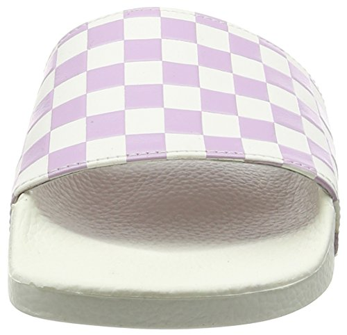 Vans Slide-On, Baskets Basses Femme Rose (Checkerboard/White/Winsome Orchid)