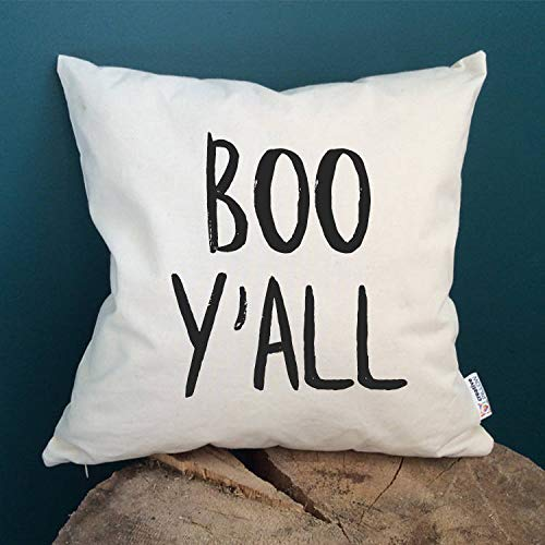 (Prz0vprz0v Halloween Throw Pillow Cover Halloween Pillow Boo Y'all Halloween Decoration Halloween Decor Halloween Pillows Halloween Cushion Cover Scary Gift 18 x 18 Inch)