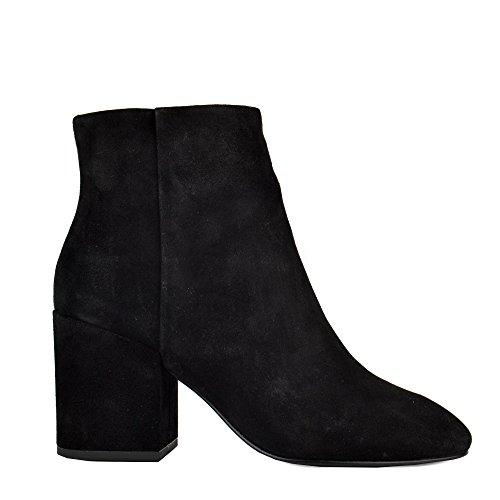 Ash EDEN Ankle Boots Black Suede 37 Black
