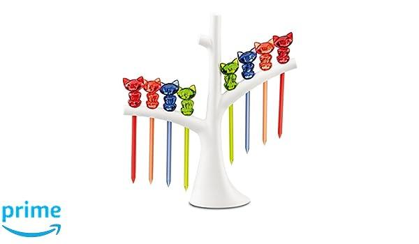koziol Party-Piekser-Set mit Baum Kunststoff schwarz mit schwarz//wei/ß 4 x 17 x 19,2 cm pi:p