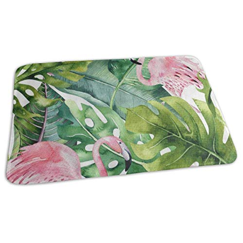 Voxpkrs Changing Pad Watercolor Flamingo Bird Palm Tree Baby Diaper Urine Pad Mat Vintage Adults Baby Mattress Sheet for Any Places for Home Travel Bed Play Stroller Crib Car